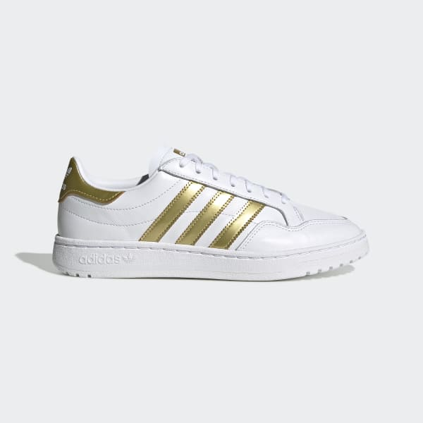 adidas Team Court W White Gold Metallic White Schuhe Sneaker Weiß Gold