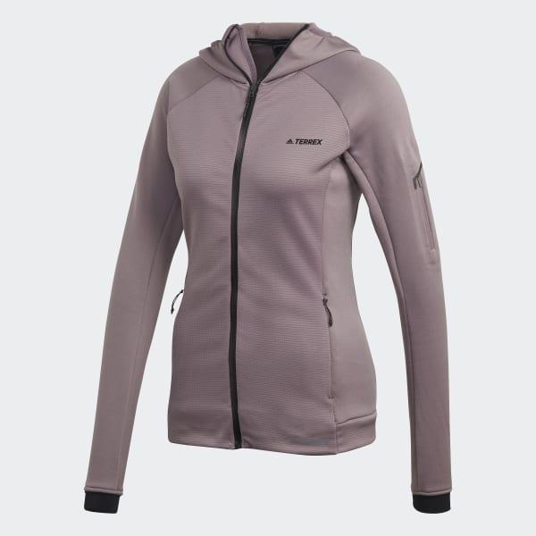 Veste polaire terrex stockhorn hooded violet Adidas
