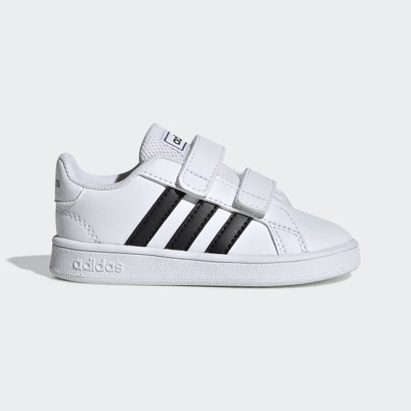 adidas Grand Court Infant Toddler Unisex Kids Hook and Loop Running Shoes