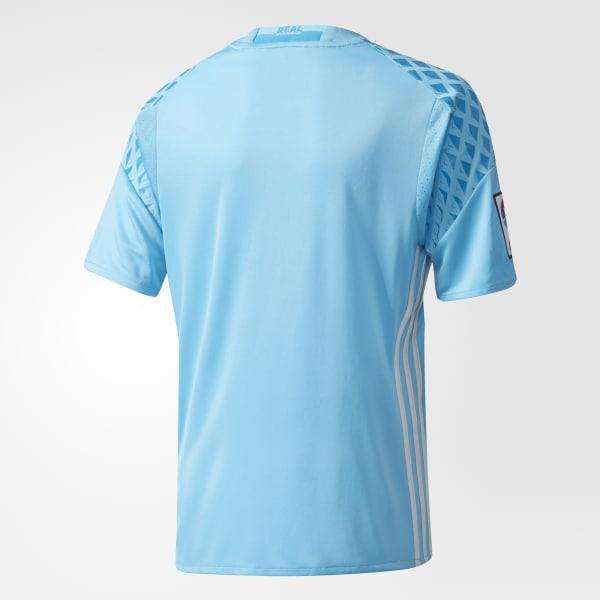 Camiseta portero primera equipación Real Madrid - Azul adidas ... 8e35d66442ef7