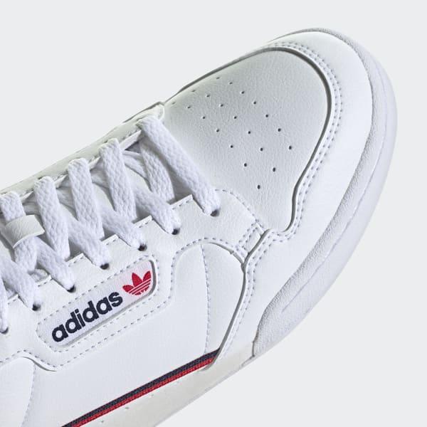 serie apertura Cuestiones diplomáticas  adidas Continental 80 Vegan Shoes - White | adidas US