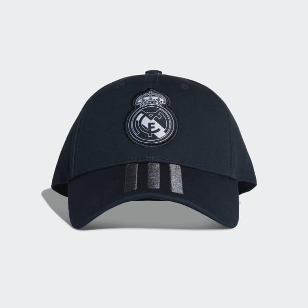 adidas Real Madrid 3-Streifen Kappe - grau  a0634e0401e