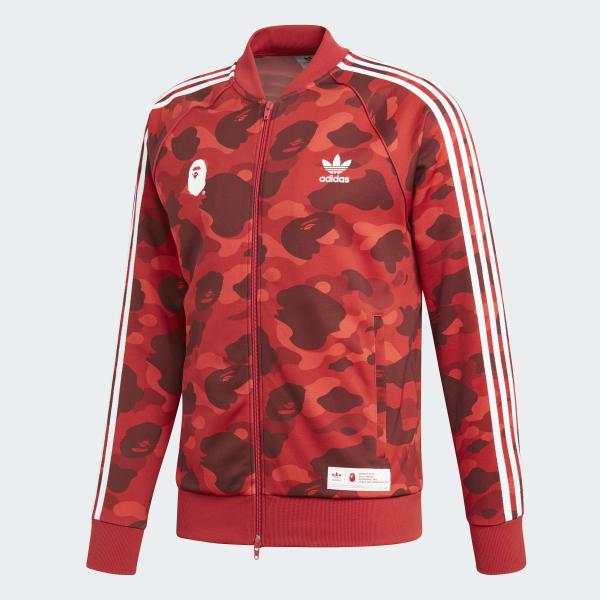 2a3dbd400 adidas BAPE x adidas Track Top - Red | adidas US
