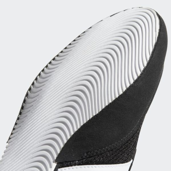 adidas Box Hog Uomo Nero Pugilato Scarpe da Ginnastica Sport
