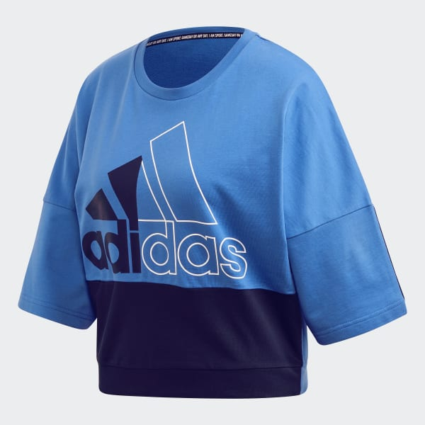adidas Must Haves Colorblock Sweatshirt Blau | adidas Austria