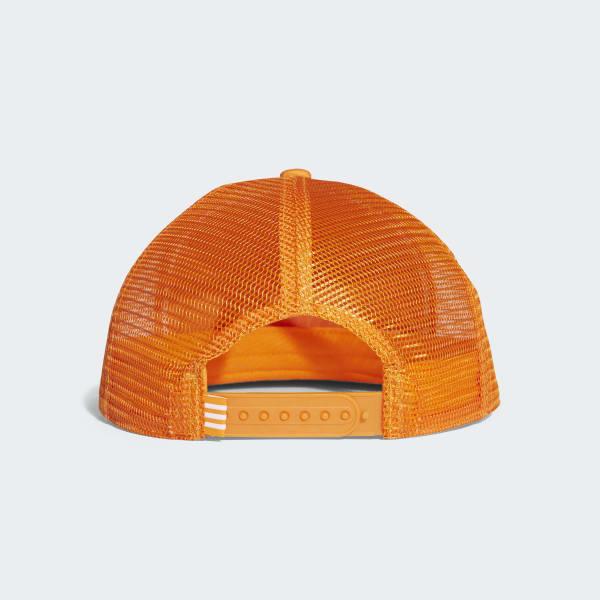Boné Trucker Trefoil - Laranja adidas  c4a01d6ffcb