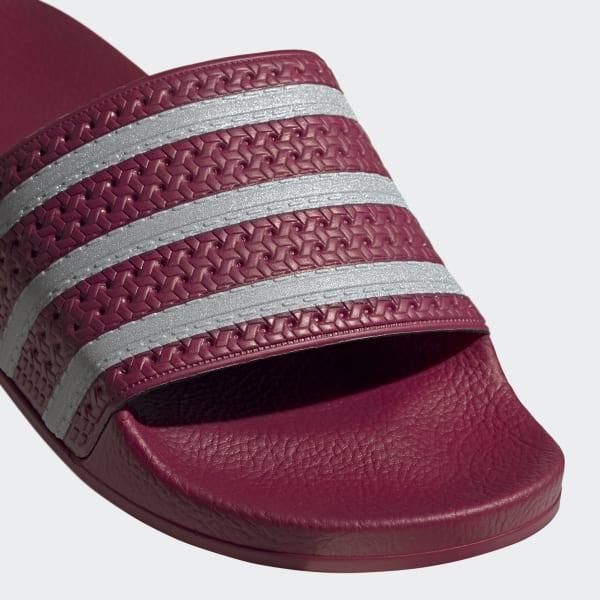 adidas Adilette Slides - Burgundy