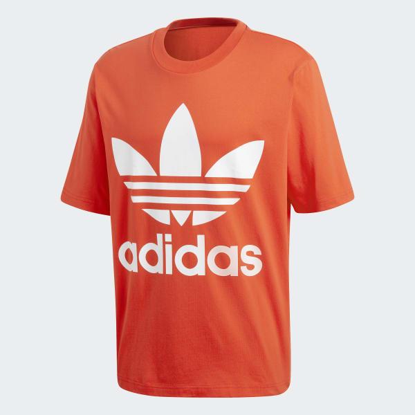 a5e12da155 adidas Tričko Trefoil Oversize - červená