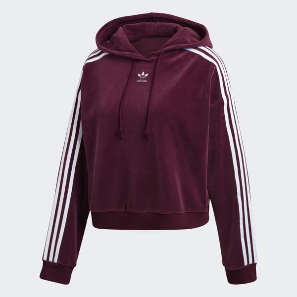 finest selection fashion style closer at adidas Cropped Hoodie - Burgundy   adidas Canada