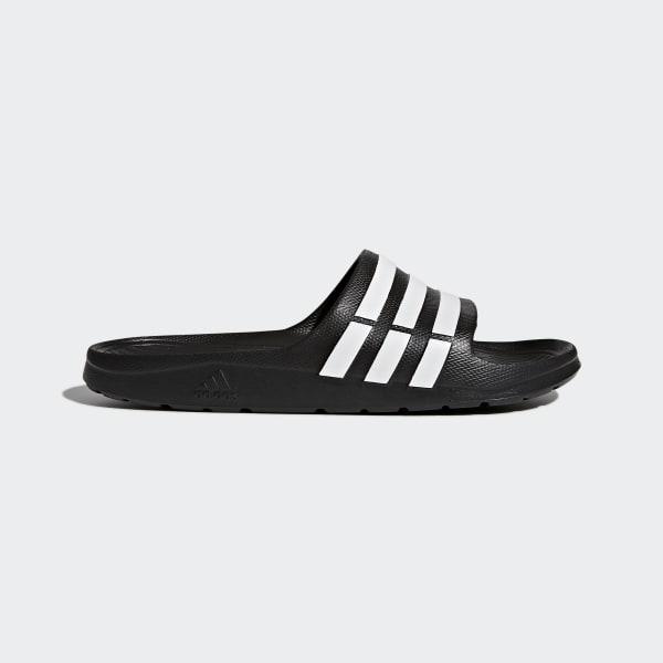 adidas Unisex Badelatschen Duramo Slide Black//White Gr 39-46 Badeschlappen