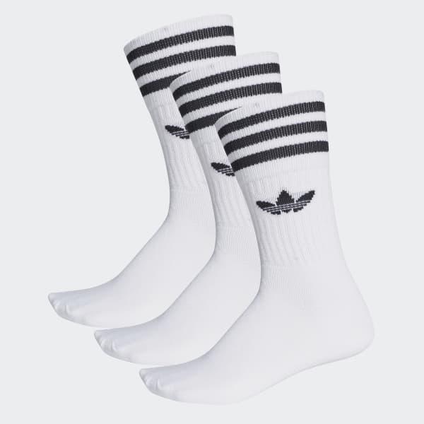 pas mal 996af c4e7a Chaussettes mi-mollet (3 paires) - Blanc adidas   adidas France
