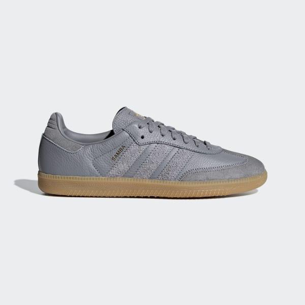 adidas Samba shoes grey gold