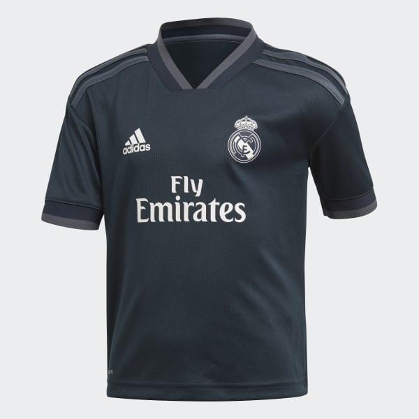 b1112eb6cb142 Miniconjunto segunda equipación Real Madrid - Gris adidas