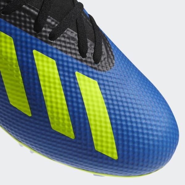 Bota de fútbol X 18.3 césped natural seco - Azul adidas  f874c098b0c49