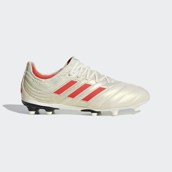 Bota de fútbol Copa 19.1 césped natural seco - Blanco adidas ... 12ec588988aed