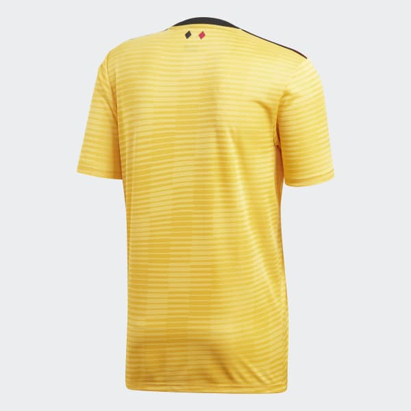 f813aa6fb adidas Camiseta Oficial Selección de Bélgica Visitante 2018 - Dorado ...