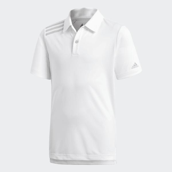 afa1806e50257 adidas Playera Polo 3 Franjas Tournament - Blanco