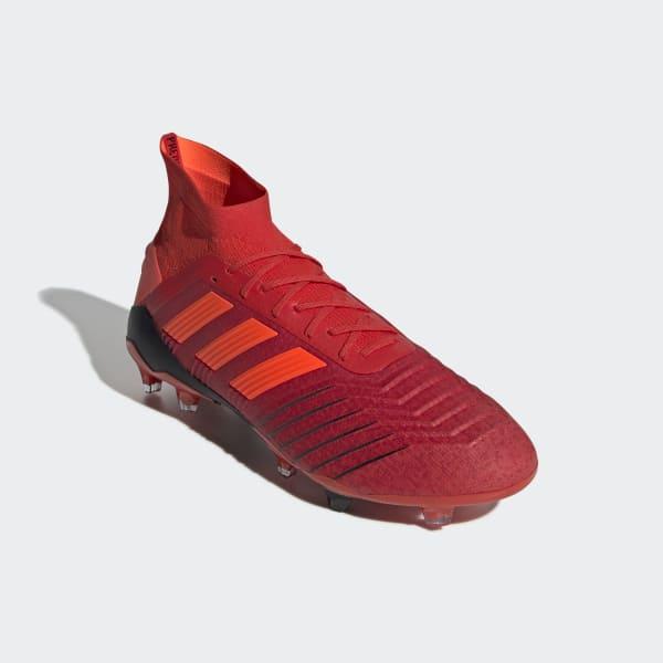 c1c5297129 CHUTEIRA PREDATOR 19 1 FG - Vermelho adidas
