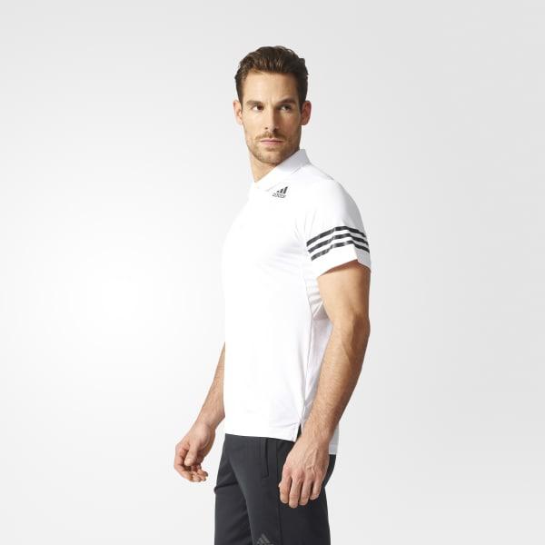 691d0f1bc27 Camisa Polo Climacool - Branco adidas