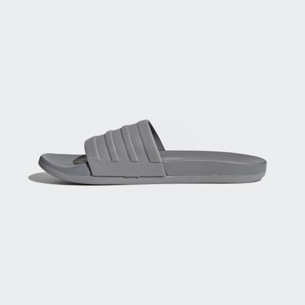 adidas adilette Cloudfoam Plus Mono Slides - Grey  0e7d52fdf