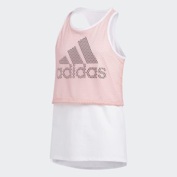 adidas Mesh Overlay Tank Top - Pink