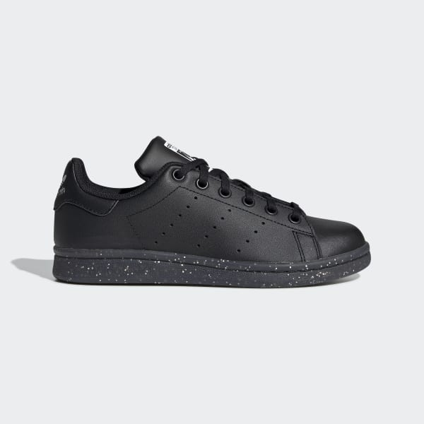 Kids Stan Smith All Black Shoes with
