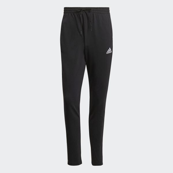 Essentials Single Jersey Tapered Open Hem 3-Stripes Pants