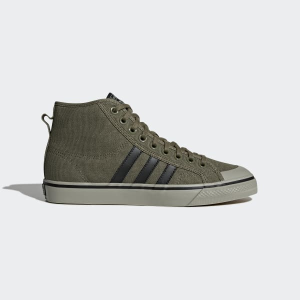 adidas Nizza Hi Shoes - Green | adidas US