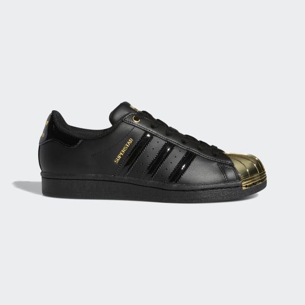 adidas superstar metallic black