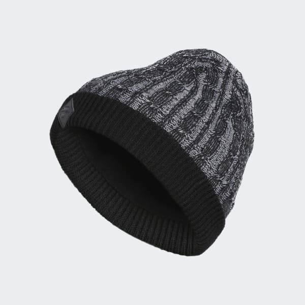 adidas Cable-Knit Beanie - Black  883e9f6a230
