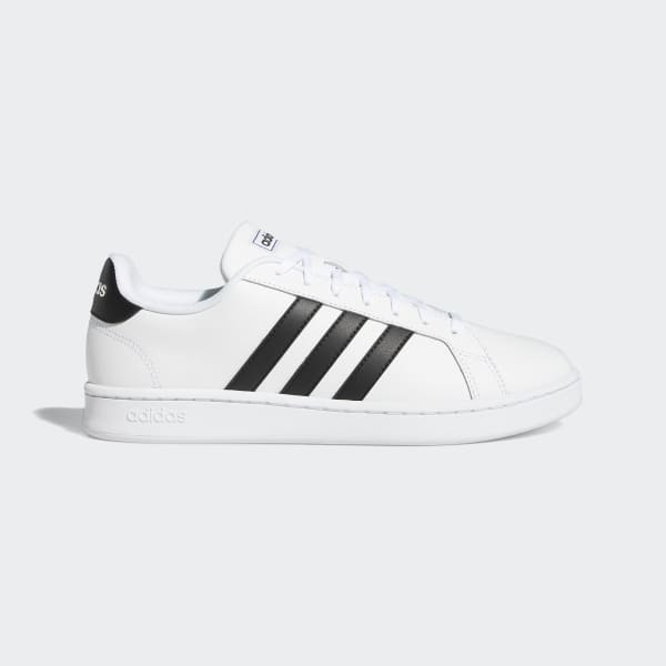 adidas grand court femme blanc or