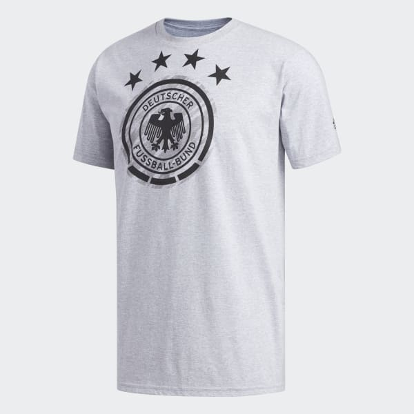 0deb4f311 adidas Germany Brushed Stripes Tee - Grey
