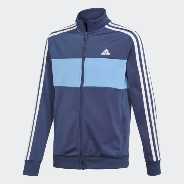 Adidas performance veste de survêtement bluewhite enfant