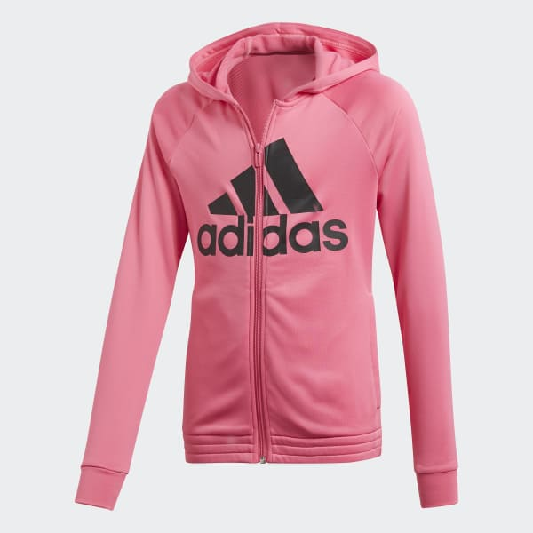 the latest aed72 c7498 adidas Hooded Track Suit - Pink   adidas UK
