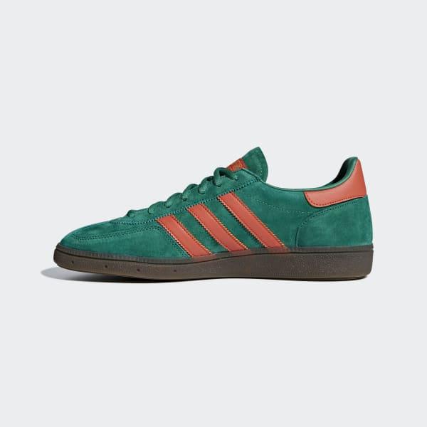 Adidas Spezial Sneakers grün mit orangen Streifen | Adidas