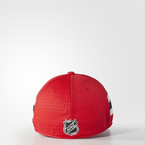 68998ed32 adidas Blackhawks Structured Flex Draft Hat - Red