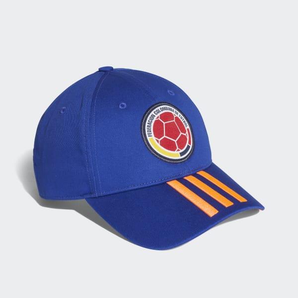 dc4160c49e5b4 adidas Gorra 3 Rayas Selección Colombia 2018 - Azul