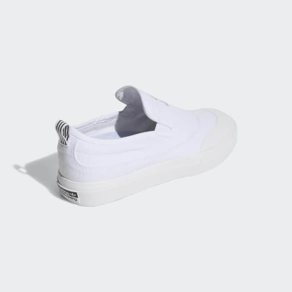 266c6f7a353fb8 adidas Chaussure Matchcourt Slip-on ADV - blanc