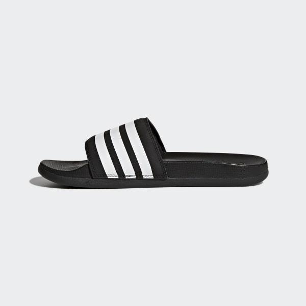 4cd2348701eab6 adidas Adilette Cloudfoam Plus Stripes Slides - Black