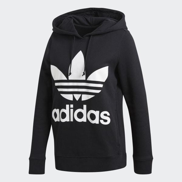 adidas Originals Huvtröja Trefoil Hoodie Svart Dam Black