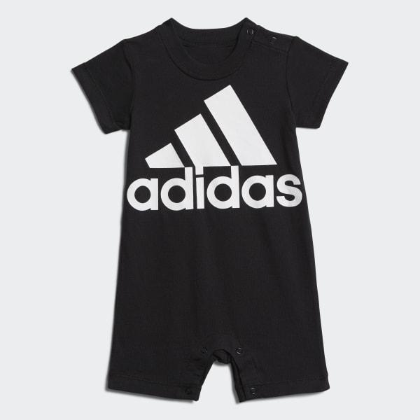 adidas Shortie Cotton Romper - Black