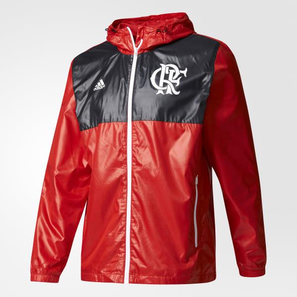 d6f10be88e Jaqueta Corta-Vento CR Flamengo Sazonal Especial - Vermelho adidas ...