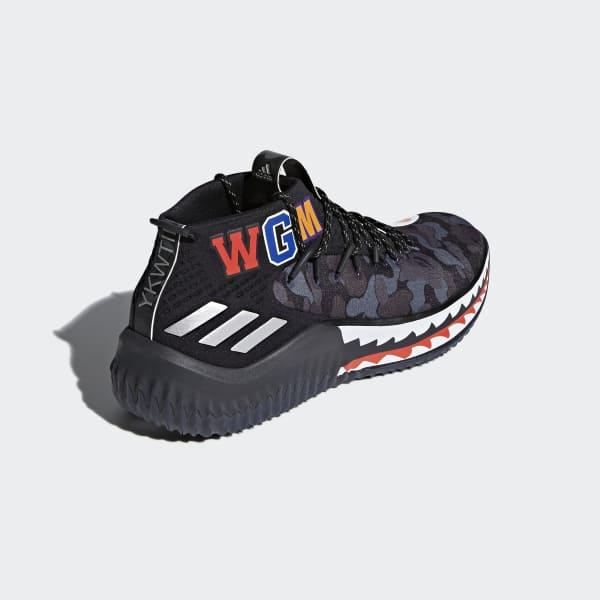lowest price e076a b858c adidas Dame 4 BAPE Shoes - Grey  adidas US
