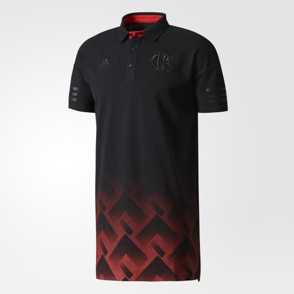 Camisa Polo Flamengo Premium - Preto adidas  16adbdb6a2ade