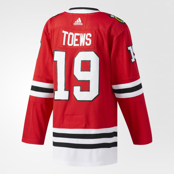 163bb8e84 adidas Blackhawks Toews Home Authentic Pro Jersey - Red