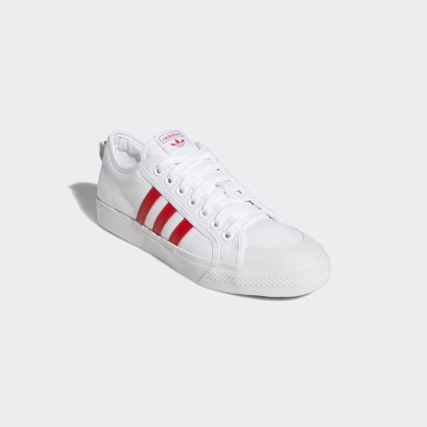 Nizza Cloud White and Lush Red Shoes | EF5687 | adidas US