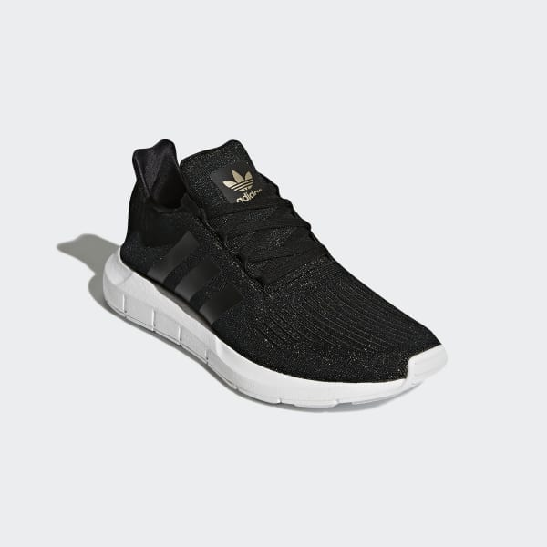 adidas swift run black glitter