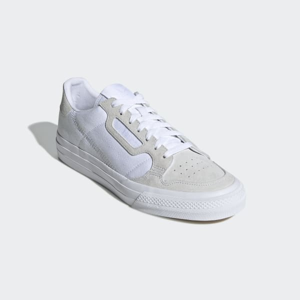 Herren adidas Weiß Continental Vulc Sneaker