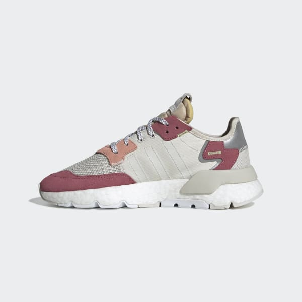 adidas Originals Women's Nite Jogger WhitePink Sneaker