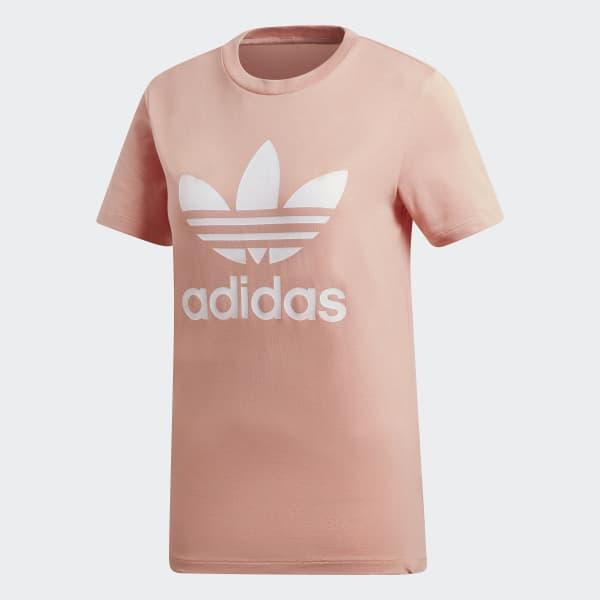 453eba0d40a Camiseta Trefoil - Rosa adidas